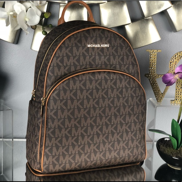0a35c9c75ca5 Michael Kors Bags | Nwt Large Abbey Backpack Brown Bag | Poshmark